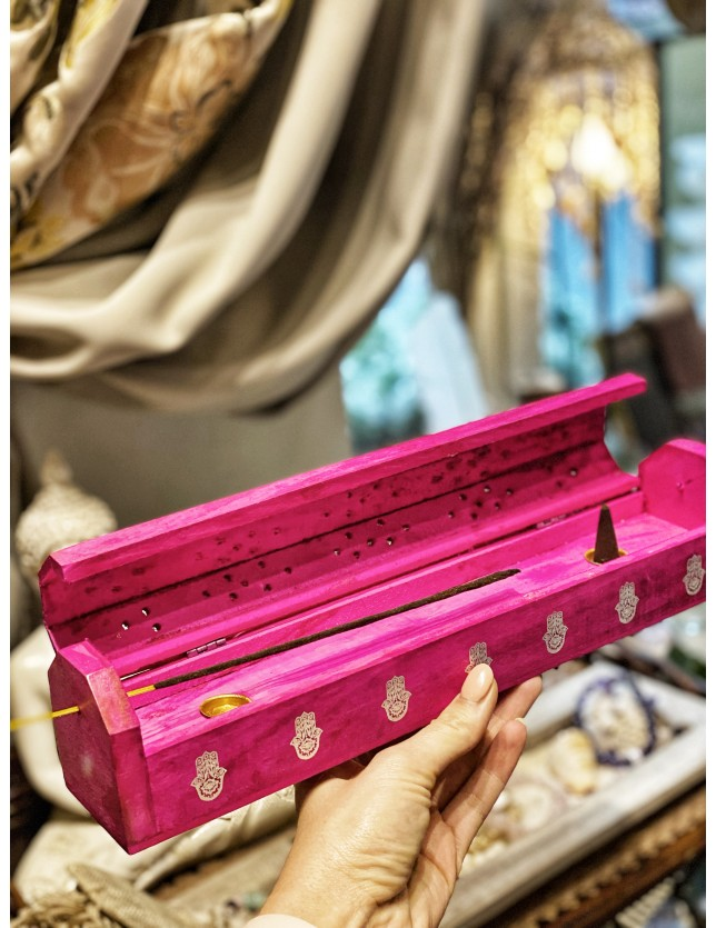 Incense holder with drawer for incense